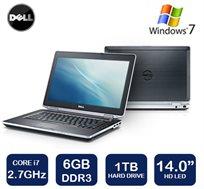"""נייד Dell Latitude עם מסך """"14 Anti-Glare עם מעבד i7, זיכרון 6GB, דיסק ענק 1TB ו-WIN7 + מתנה - משלוח חינם!"""