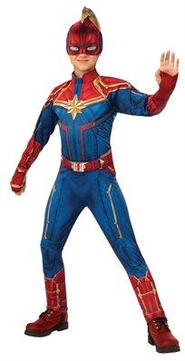 קפטן מארוול ילדות באוברול כחול/אדום