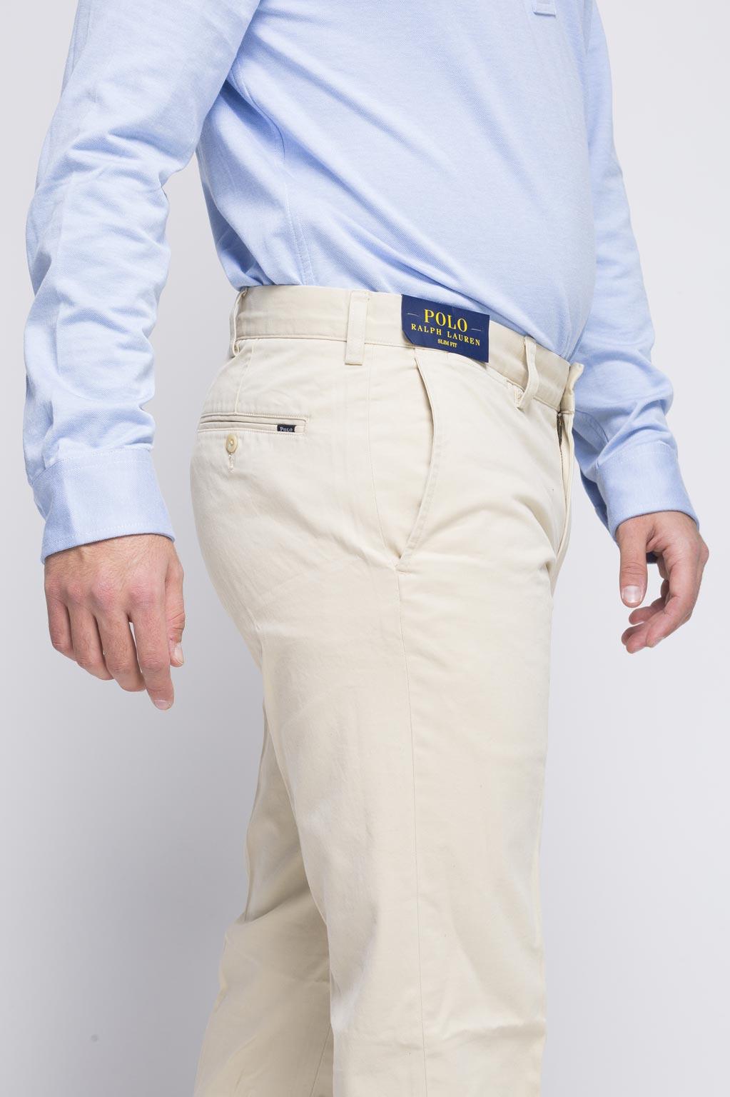 מכנסיים לגבר POLO RALPH LAUREN - קרם בהיר