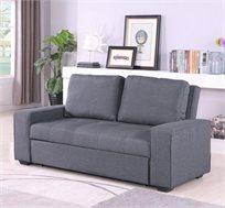 ספה נפתחת בצבע אפור דגם קומפקט
