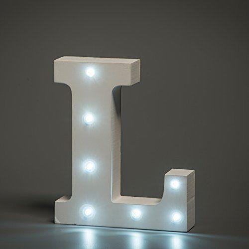 מנורת לילה עם תאורת לד Led מעוצבת בצורת האות L