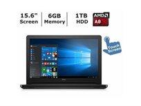 """מחשב נייד 15.6"""" מסך מגע  Dell דגם 5555-0001Blk מעבד Amd A8-7410 זיכרון 6Gb דיסק קשיח 1000Gb מערכת הפעלה Windows 10 - מוחדש"""