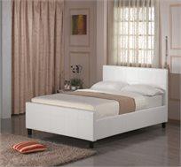 מיטה זוגית 140X190 בעיצוב איטלקי GAROX מרופדת עור איכותי וארגז מצעים דגם BLANCO