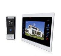 אינטרקום וידאו משולב מצלמה והקלטה כולל מסך צבעוני LCD