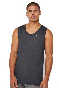גופיית DRI-FIT Nike לגברים בצבע אפור כהה