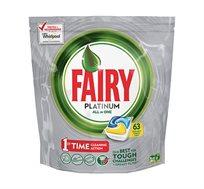 2 מארזי טבליות למדיח Fairy Platinum בכל מארז 63 יחידות
