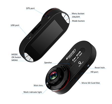 מצלמת דרך Motorola לרכב DS 970 1080 עם צפייה רחבה של 170 מעלות - תמונה 2