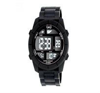 שעון יד דיגיטלי לגבר Q&Q בצבע שחור