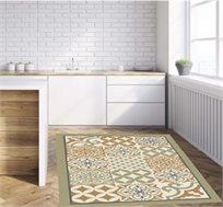 שטיח מעוצב דגם אקלקטי ירוק בגדלים לבחירה