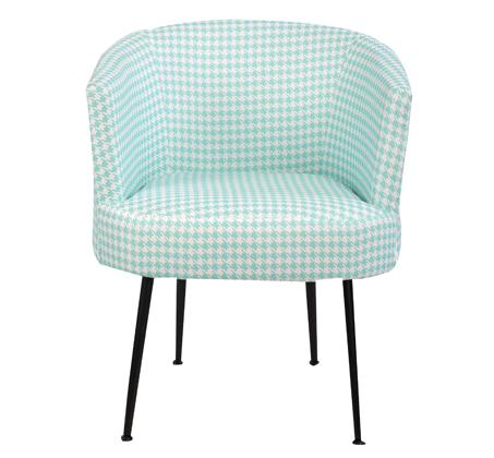 כורסא בעיצוב רטרו מיוחד עם רגלי ברזל מלא בצבע שחור דגם טורונטו בצבעים לבחירה  GAROX - משלוח חינם - תמונה 2