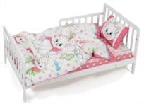 סט מצעים 3 חלקים מארי (חתולים בצמרת) למיטת תינוק/מעבר