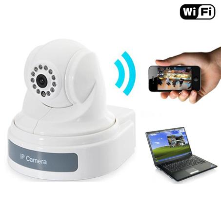 מודיעין מצלמת IP אלחוטית מסתובבת ל-360 מעלות לצפייה עם אפליקציה מכל מחשב KJ-44