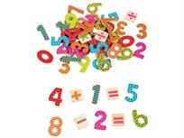 מספרים מגנטים מעץ