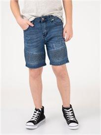 מכנסי ברמודה עם קפלים