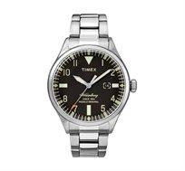 שעון יד אנאלוגי לגבר TIMEX עם תאורה עשוי פלדת אל חלד ועמיד במים עד 50 מטר