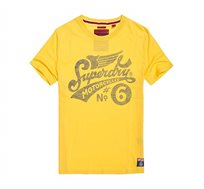 טי שירט Superdry Riders Heritage לגברים בצבע צהוב