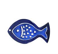 תחתית לסירים עשויה אלומיניום בעיצוב דג בגוון כחול מבית EMANUEL