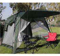 אוהל משפחתי ענק 3X3 מטר גובה 2.4 מטר לקמפינג, עמיד למים, עם חלונות גדולים לשינה מרווחת של כל המשפחה!