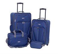 סט מזוודות 4 חלקים TRAVEL SELECT - כחול