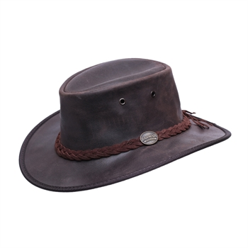 Barmah - כובע מתקפל עמיד במים עשוי מעור בקר