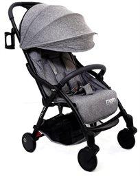 טיולון קומפקטי לתינוק עם קיפול אוטומטי טיק טק פלוס Tik Tak Plus - אפור/שלדה שחורה/פגוש אפור כהה