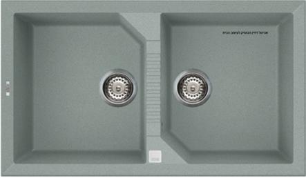 כיור מטבח כפול תוצרת איטליה דגם Tekno 450