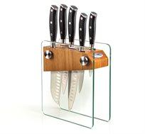 סט 5 סכינים פרפקשיין פרו במעמד זכוכית מבית Arcosteel