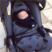 Babymitmit שמיכת עיטוף לסלקל ולעגלה פחם - Funny Numbers