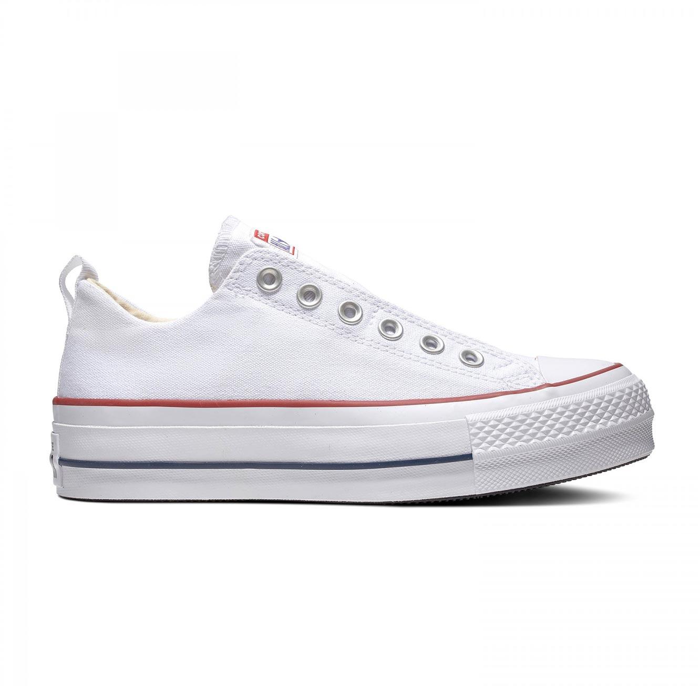 נעלי סניקרס Chuck Taylor פלטפורמה לנשים - לבן