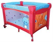 לול קמפינג  XXL לתינוק מעוצב באדום/תכלת - Tinies