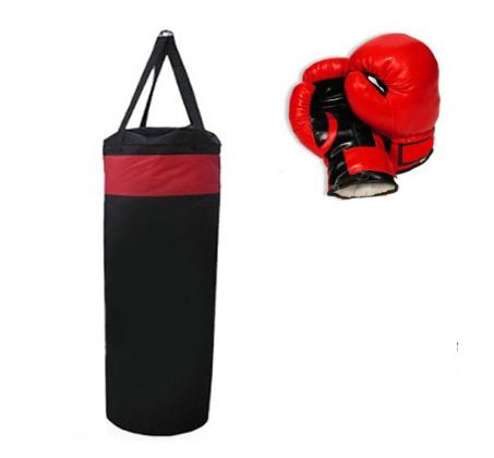 """שק אגרוף מקצועי עשוי מחומר בד פוליאסטר באורך 80 ס""""מ"""