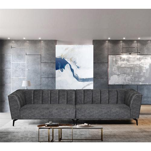 ספה רחבה 3 מ' מעוצבת עם קפיצים מבודדים ובד רחיץ דגם ורונה HOME DECOR - תמונה 6