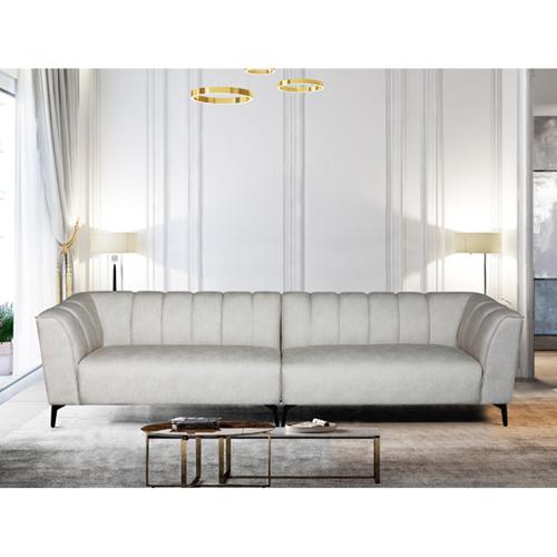 ספה רחבה 3 מ' מעוצבת עם קפיצים מבודדים ובד רחיץ דגם ורונה HOME DECOR - תמונה 2