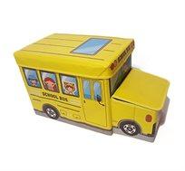 ארגז אחסון לצעצועים בצורת אוטובוס בשני צבעים לבחירה