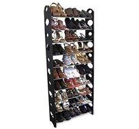 מעמד נעלים עם 10 מדפים לאחסון עד 30 זוגות עם כיסוי