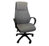כיסא מנהלים מעוצב דגם כרמל מרופד בבד עם בסיס חזק מאוד ומתאים לישיבה ממושכת