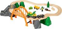 מסלול טעינה ופריקת בולי עץ עם גשר 24 חלקים