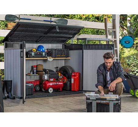 מחסן גינה בגודל בינוני מרווח ומתאים לאחסון של חפצים שונים דגם גרנדה KETER - תמונה 4