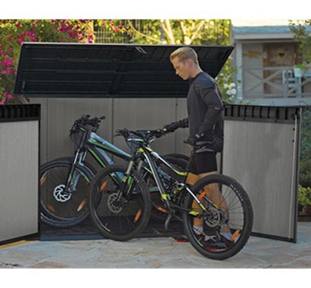 מחסן גינה בגודל בינוני מרווח ומתאים לאחסון של חפצים שונים דגם גרנדה KETER - תמונה 2