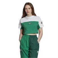חולצת קרופ לנשים אדידס - Crop Top ירוק