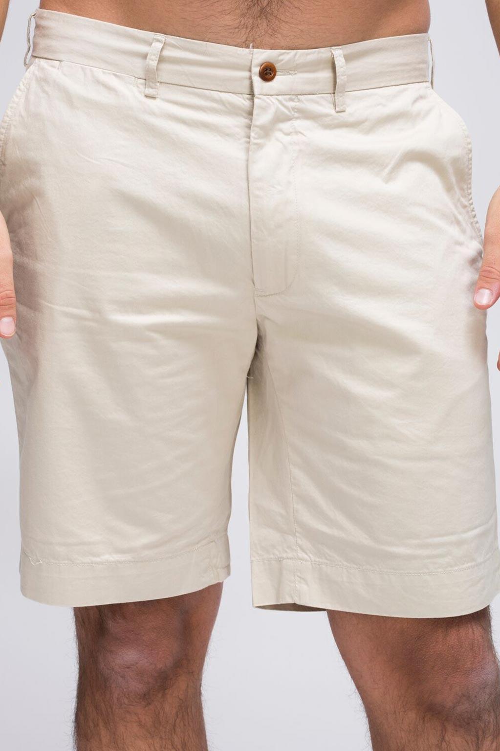 מכנסים קצרות CLASSIC FIT צבע קרם POLO RALPH LAUREN