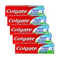 """5 מארזים של משחת שיניים 100 מ""""ל - Colgate Triple Action רק ב-₪29.90, מחיר ליחידה ₪5.98"""
