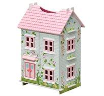 בית בובות PITOYS מעץ נפתח מכל הכיוונים