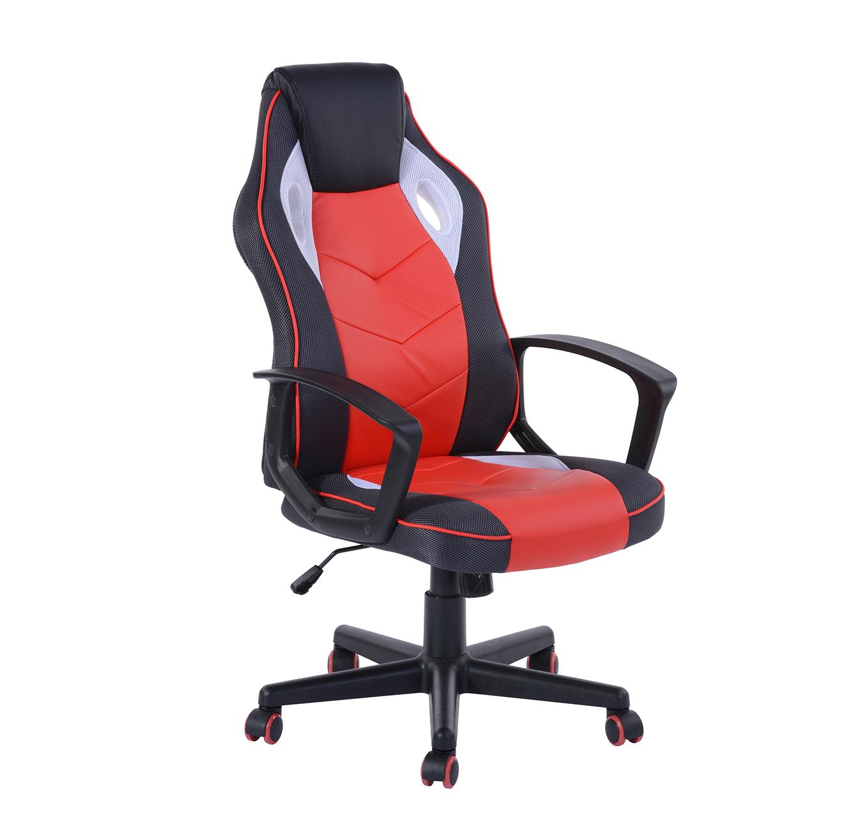 כסא גיימרים מעוצב עם משענת גב גבוהה ונוחה דגם סטיב בגוונים לבחירה - תמונה 2