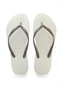Havaianas נשים // Slim Logo Metallic White