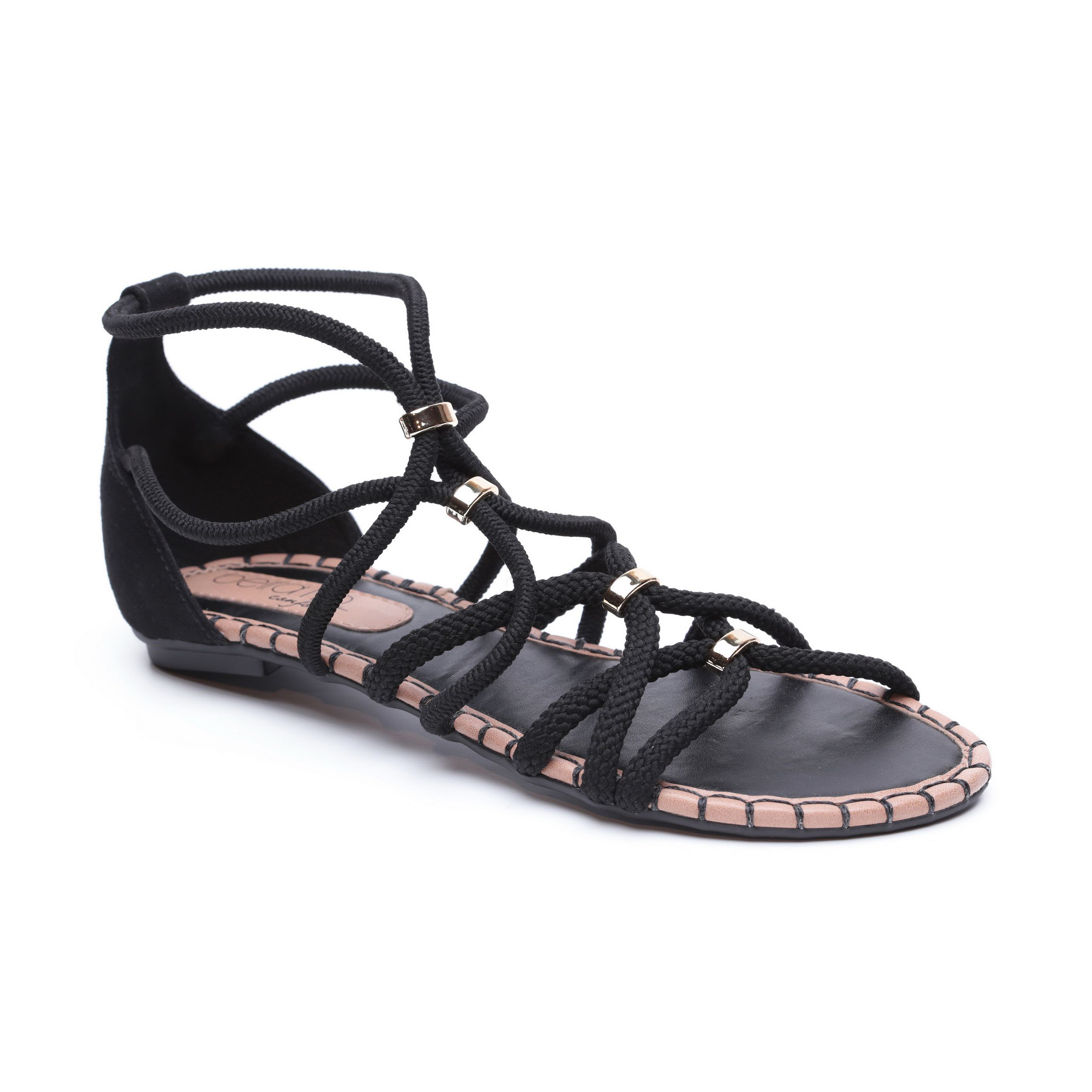 "Beira Rio - סנדל בסגנון תנכ""י לנשים בצבע שחור"