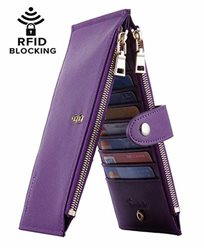 Lambo Wallet Multi Card Case Purple Steel