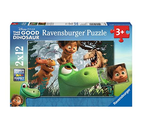 פאזל הדינוזאור והילד 2X12 חלקים Ravensburger