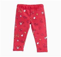 מכנסיים OVS לתינוקות - ורוד עם הדפס ציורים