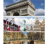 """חלומות מתגשמים - הולנד, בלגיה וצרפת, 8 ימי טיול מאורגן כולל אירוח ע""""ב א.בוקר החל מכ-$979*"""